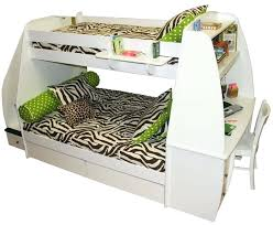 Top Bunk Beds Bunk Beds With Desk This Sleek Curvy White Bed Features An