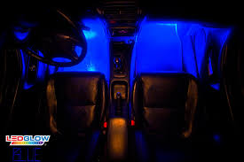 led interior light kits ledglow s 4pc blue led interior lighting kit youtube