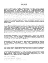 cover letter united nations client langford of arizona bills the united nations for the