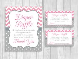 printable 5x7 or 8x10 baby shower diaper raffle sign and sheet