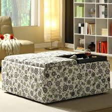 Grey Fabric Ottoman Bed Large Square Fabric Storage Ottoman U2013 Keepcalm Me