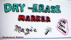 haphazard dry erase marker magic science experiment youtube