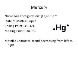 Periodic Table Mercury Periodic Table Project