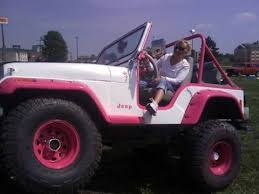 white and pink jeep vin j6f83an014439 1976 cj 5 custom pink white jeep show winner