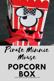 minnie mouse popcorn box and giveaway a princess and her pirates