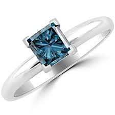 engagement rings 600 1 carat princess cut blue solitaire engagement ring