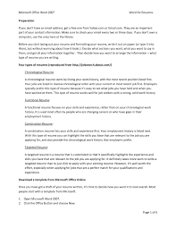 Qualities Of A Good Resume Limo Driver Cover Letter