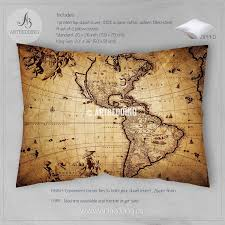 Old Map America Old Map Bedding Vintage Map Bedding Vintage Old Map
