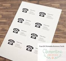 free diy printable business card template