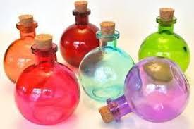 colored glass bottles ebay