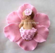 baby shower cake toppers girl pink flower baby cake topper baby shower dinascaketoppers