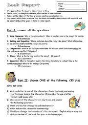 high school book report template intermediate esl worksheets book report