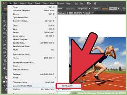 how to change adobe illustrator to cmyk with pictures wikihow
