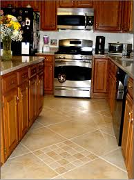 perfect kitchen tile flooring floor ideas floors with oak cabinets