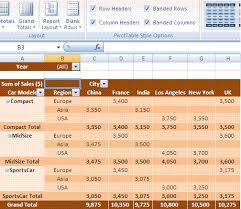 Excel Pivot Table Template Excel Pivot Table Design Layout Pivot Table Styles