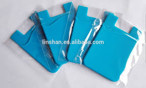 silicone 3m business card holder sticky pouch card money holder