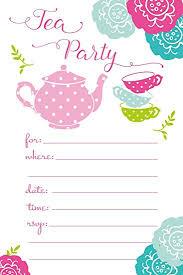 party invitations tea party invitations birthday baby shower any