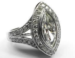 marquise diamond engagement rings engagement ring handcrafted vintage marquise diamond engagement