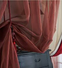 Sheer Burgundy Curtains Inexpensive Burgundy Sheer Curtains For Bedrooms Buy Burgundy