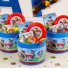 paw patrol candy table ideas paw patrol favor bucket idea party city party city