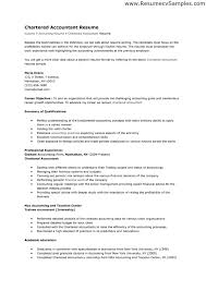 Tax Accountant Resume Sample by Chartered Accountant Resume Format Resume Format