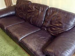 Used Leather Sofa by 3 4 Used Brown Leather Sofa Very Comfortable Detachable