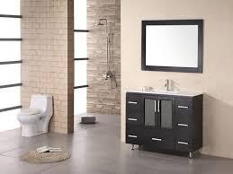 Thin Vanity Table Freestanding Black Narrow Vanity Table Mixed Stone Doorless Shower
