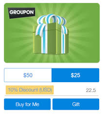 ended 10 groupon gift cards 5x from ppdg doctor of credit
