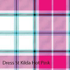 pink tartan st kilda dress hot pink tartan hose bonnie tartan