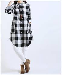 Maternity Plaid Shirt Pregnant Fall Long Sleeve Cotton Blouse Maternity Casual Single