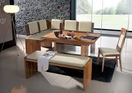 furniture wooden kitchen table with booth seating combined with