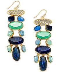 Ralph Lauren Chandelier Fashion Earrings Lauren Ralph Lauren Gold Tone Multi Stone Bib Necklace Fashion