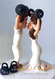 weight lifting cake topper cakes by georgiou weightlifting and