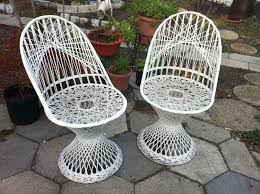Wrought Iron Patio Furniture Set by Vintage Russell Woodard Spun Fiberglass Patio Chairs Dream House