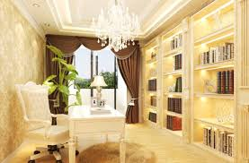 neoclassical french study room interior design house plans 42780
