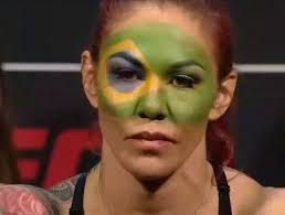 Flag Face Cyborg Rocks Brazilian Flag Face Paint At Weigh Ins Thescore Com
