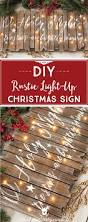 diy rustic light up christmas sign holy night diy christmas and