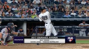 Aaron Judge Yankees Slugger Becomes Tallest Center Fielder - aaron judge wins mlb award for best rookie mlb com