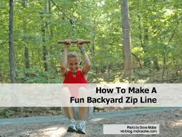 how to make a fun backyard zip line