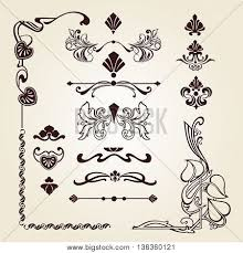 flower ornament corner ornament vector photo bigstock