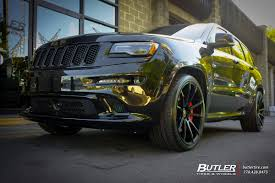 lowered jeep grand cherokee jeep cherokee srt 8 with 22in savini bm12 wheels exclusively from
