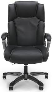 Black Leather Office Chairs Shiatsu Massage Leather Office Chair
