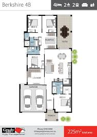 berkshire 4 large 4 bedroom house floor plan grady homes