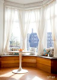 Curtains For Bay Window Bay Windows Are But Often There S A An Feeling To Them