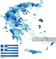 Map Of Greece by Map Of Greece States Cities And Flag Vector Art Getty Images