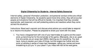 internet safety scenarios for middle and high students