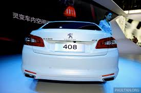 new peugeot sedan new peugeot 408 sedan unveiled at auto china 2014 image 244065