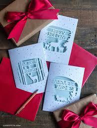 elegant paper cut christmas cards handmade christmas cards