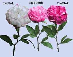 Silk Flower Depot - real touch silk peony 1 stem