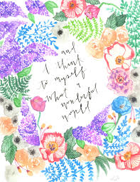 louis armstrong watercolored quote with bold floral